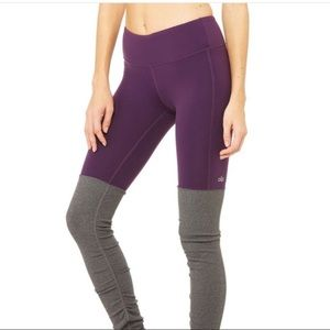 Alo midrise purple/grey goddess leggings